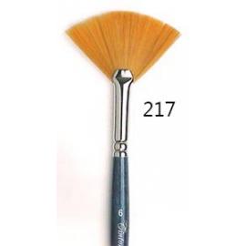 Pennello a ventaglio - sintetico ambra 217