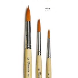 Pennello tondo, sintetico ambra 707