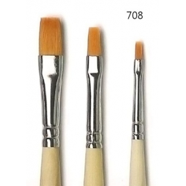 Pennello piatto, sintetico ambra 708