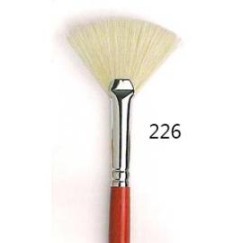 Pennello a ventaglio - setola bianca 226